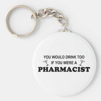 Drink Too - Pharmacist Keychain