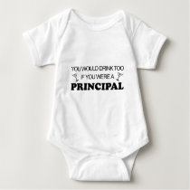 Drink Too - Principal Baby Bodysuit