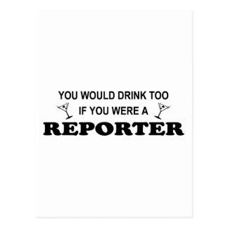 Drink Too - Reporter Postcard