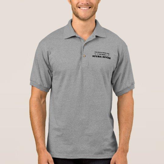 Drink Too - Scuba Diver Polo Shirt