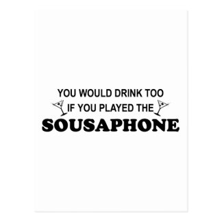 Drink Too - Sousaphone Postcard