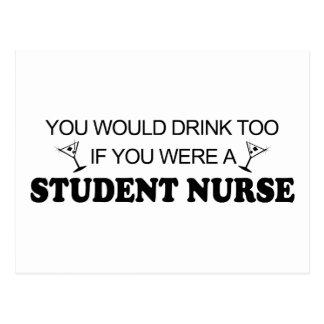 Drink Too - Student Nurse Postcard