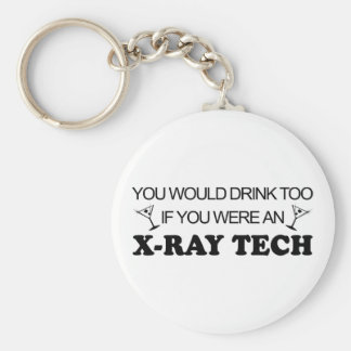Drink Too - X-Ray Tech Basic Round Button Keychain