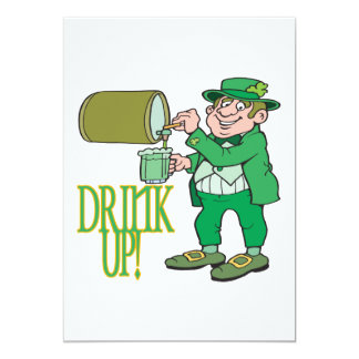 Drink Up 5x7 Paper Invitation Card