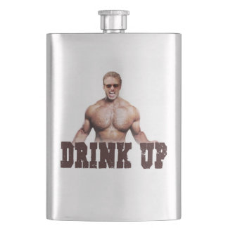 """Drink Up"" Big Flask"
