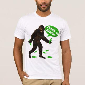 Drink Up Bigfoot St Pattys Day Sasquatch T-Shirt