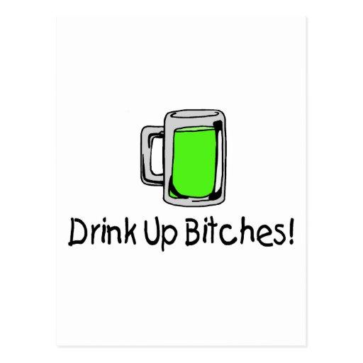 Drink Up Bitches St Patricks Day Postcard