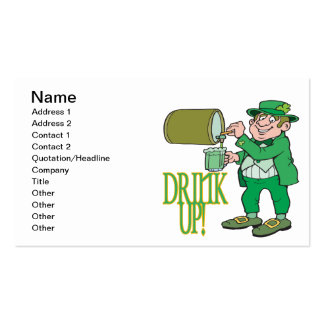 Drink Up Business Card Template