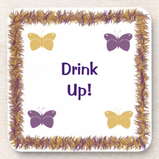 Drink Up Butterfly Cork Coaster