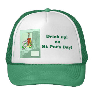 Drink up! on St Pat's Day! Mesh Hats