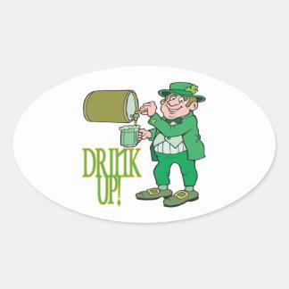 Drink Up Oval Sticker