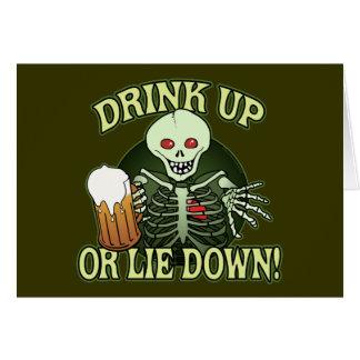 Drink Up Skeleton Card