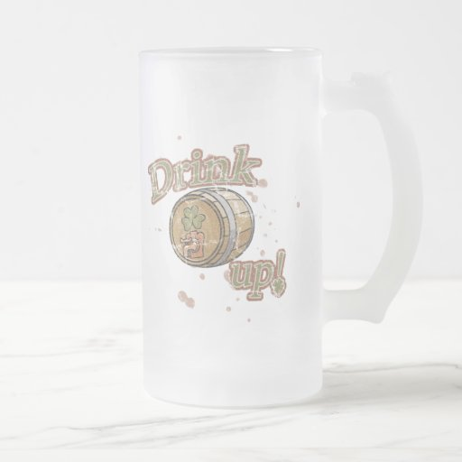 Drink Up St. Patrick's Day Frosted Mug