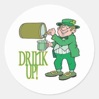 Drink Up Round Sticker