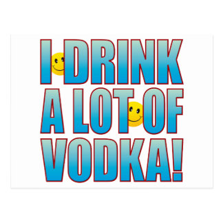 Drink Vodka Life B Postcard
