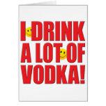 Drink Vodka Life Greeting Card