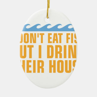 Drink Water Ceramic Ornament