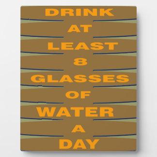 Drink Water Plaque