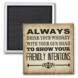 Drink Whiskey Magnet