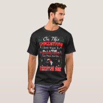 Drink Wine Pet Miniature Horse Christmas Ugly T-Shirt