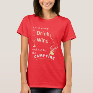 Drink Wine & Site by Campfire Tees Camping Tshirts