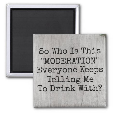 Drink With Moderation Magnet