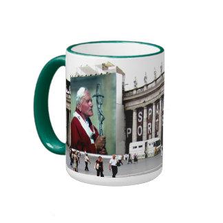 Drink with Pope John Paul Ringer Mug