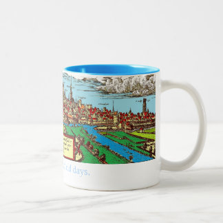 Drink with the Medievals Two-Tone Coffee Mug