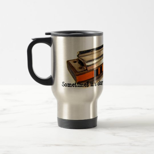 Drink your blues away travel mug