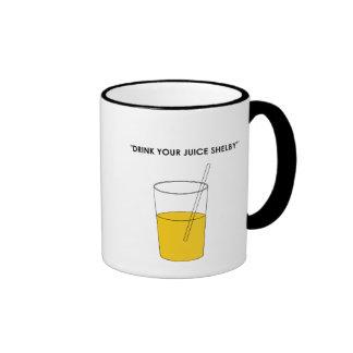 Drink Your Juice Shelby Ringer Mug