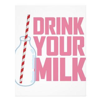 Drink Your Milk Letterhead