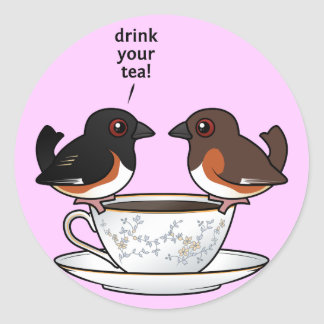 Drink Your Tea! Classic Round Sticker