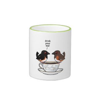 Drink Your Tea! Ringer Coffee Mug