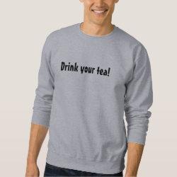 Men's Basic Sweatshirt with Eastern Towhee design