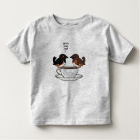 Eastern Towhee: Drink Your Tea! Toddler Fine Jersey T-Shirt