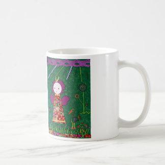 drinkbeker met grappig klein engeltje  groen paars coffee mug