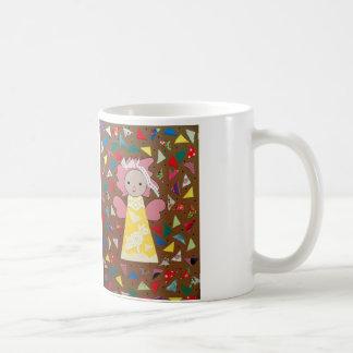 drinkbeker met grappig klein engeltje veelkleurig coffee mug