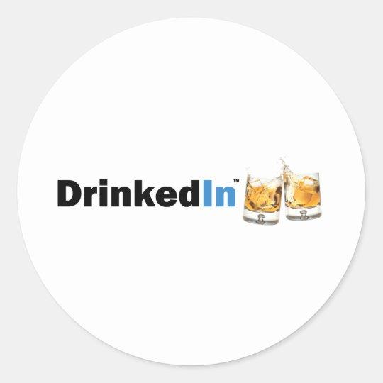 DrinkedIn Classic Round Sticker