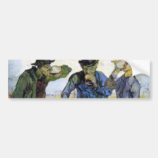 Drinkers by Vincent van Gogh Car Bumper Sticker