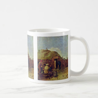 Drinkers In The Yard By Brouwer Adriaen Coffee Mug