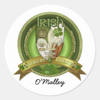 Drinkers & Thinkers - Irish Blessings Classic Round Sticker