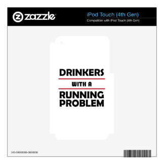 Drinkers with a Running Problem iPod Touch 4G Decal