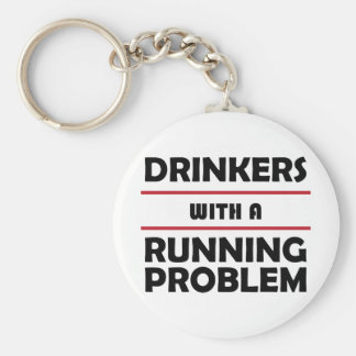 Drinkers with a Running Problem Keychain
