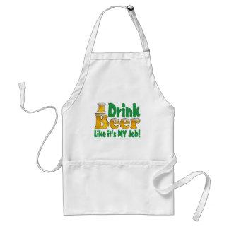 Drinkin Beer Job Adult Apron
