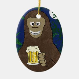 Drinkin Bigfoot Ornament