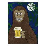 Drinkin Bigfoot Tarjeta De Felicitación