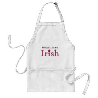 Drinkin' Like I'm Irish Adult Apron