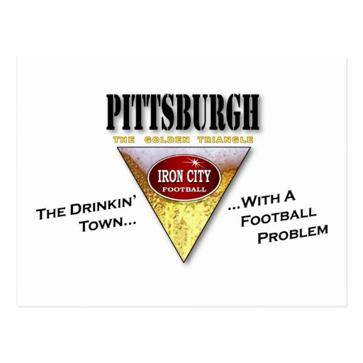 Drinkin' Town with a Football Problem Postcard