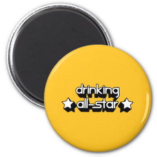 Drinking All-Star in Any Team Colors 2 Inch Round Magnet