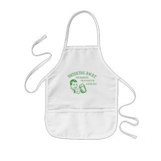 Drinking Away Moments That Make Up A Dull Day GRN Kids' Apron